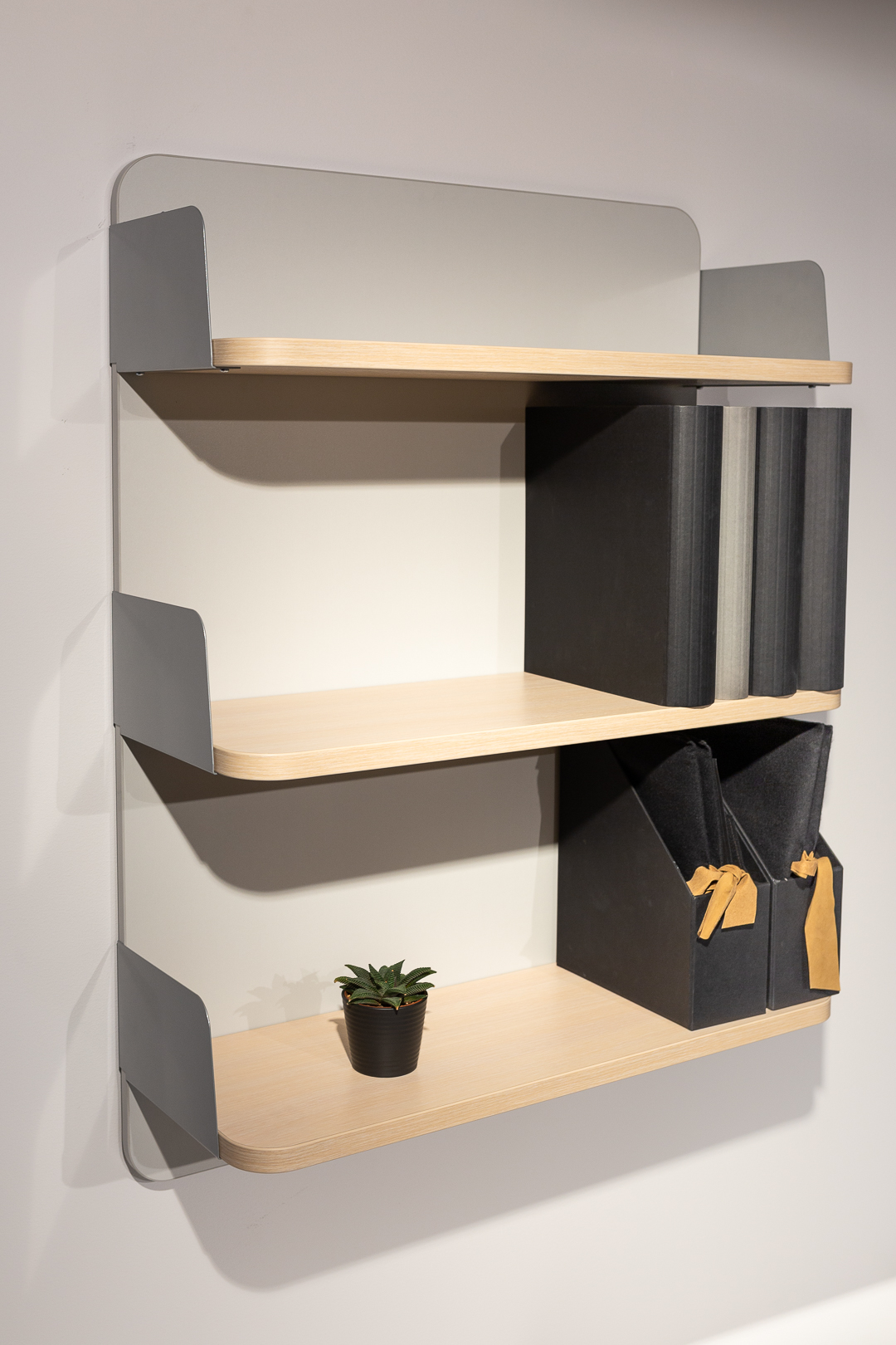 Wall panel shelf system